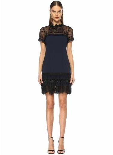 Jonathan Simkhai Dantel Detaylı Mini Elbise Siyah